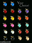 "NEW Pair ENAMEL ""APPLE"" POST Earrings (7 MM) ~ YOUR CHOICE ~ GOLD PLATED JEWELRY"