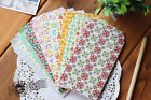 Japanese Style Floral Envelope set of 5 cookies letters objects mini colorful