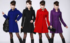 Women Girl Thick Wool Blend Cashmere Winter Noble Long Coat Jacket 4 Color