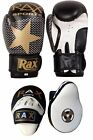 Focus Pads and Boxing Gloves Set Hook & Jabs Mitts Punch Bag MMA Fight Training
