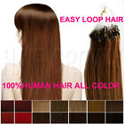 """Micro Bead Ring Loop 100% Human Hair Extension Real REMY 16"""" 18"""" 20"""" 22"""" 24"""" 26"""