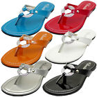 Womens Sandals Silver Jewelry Flip Flops Thong Flat Shoes Size 5 to 10 VENUS-08