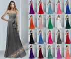 Long Bridesmaid Dresses Wedding Evening Dress Formal Party Prom Gowns Size 6-26