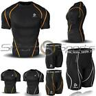New Mens Compression Set Shorts & Shirt Baselayer Twin Pack 2 Pack Top | Tesla