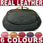 Ladies Quality soft Leather Clasp Purse Black Pink Red & more  Coin money wallet