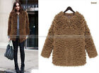 Women Fashion Fur Loose Jacket Overcoat Coat Outwear 3 Colors S-XL WCOT301