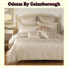 3 Pce - ODESSA Jacquard Quilt Cover Set Eurocases by Gainsborough - QUEEN KING
