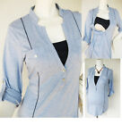 MEL Maternity Clothing Nursing Shirt Breastfeeding Tops Maternity Shirt NEW BLUE
