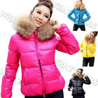 FKUS New Womens Winter Warm Hoodie Down Faux Fur Collar Outwear jacket Coat