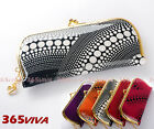 1PC Dots Patent Leather Lady Gold Metal Clutch Wallet Coin Bag Purse
