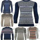 Mens Casual Long Sleeves Aztec Snowflakes Pullover Knitted Sweater Jumper Top