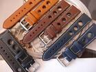 THICK LEATHER STRAPS WILL LOOK GREAT ON YOUR BREITLING WATCH DIVE/ MILITARY /