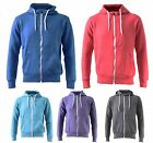 AMERICAN AUTHENTIC MENS WOMENS UNISEX APPAREL HOODED ZIP UP TOP HOODIE S M L XL