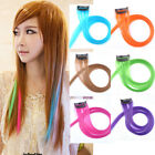 Wholesale Synthetic Grizzly Hair Piece Colorful Clip In Hair Extensions KAP01