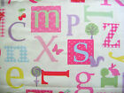 LAURA ASHLEY COTTON FABRIC RARE 'ALPHABET' -SIZE CHOICES -ABC REMNANT +FREE GIFT