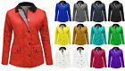 NEW WOMENS LADIES COLLERED QUILTED PADDED BUTTON ZIP WINTER JACKET COAT TOP