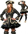 Ladies Deluxe Pirate Sexy Fancy Dress Costume Hen Party Womens Adult Outfit