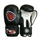 KID BLACK BOXING GLOVE MOULDED FOAM FIGHT PUNCH REX LEATHER 4 - 6 OZ - 1001