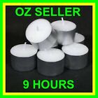 White Unscented 9 Hour Tealight Candles 50 or 100 or 150 pk For Party & Wedding