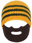 Toddler' Multi Color Winter Knitted Caps with Funny Beard