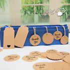 Wedding Brown Kraft Paper Tags Bonbonniere Favour Gift Tags Cards With Twines