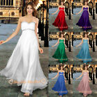 Long Bridesmaid/Prom Evening Dresses Party Formal Ball Gowns 6 8 10 12 14 16 18+