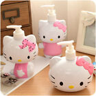 New Cute Pump Hello Kitty Head Bath Dispenser Shampoo Cosmetic Bottle 250ml
