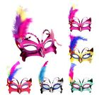 4x Hallowmas Dance Ball Party Elegant Masquerade Butterfly Feather Plastic Mask