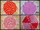 Handmade Fabric Bunting Red party collection 20ft-40ft Celebrations - Decoration