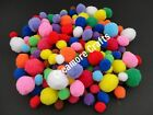 10 CRAFT POMS COLOUR CHOICE FLUFFY BALLS VARIOUS SIZES CHILDREN ARTS & CRAFTS