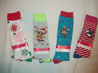 NEW JUSTICE GIRL HOLIDAY KNEE SOCKS SIZE S/M SHOE SIZE 13-5 OR M/L SIZE 5-9 SHOE
