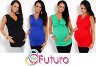 ♥ Women's Maternity Vest Top ♥ Sleeveless V Neck Tunic Pregnancy Sizes 8-18 5104