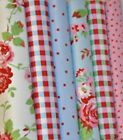 CATH KIDSTON IKEA ROSALI FABRIC FQ, 100% COTTON WHITE/BLUE-ROSE-FLORAL-CHECK-DOT