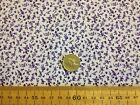 FLORAL POLY COTTON FABRIC MEADOW TINY * PURPLE * FLOWER PRINT * babies breath *
