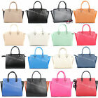 Ladies Designer Leather Style Medium Large Selma Top-Zip Satchel Women Tote Bag