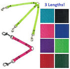2 OR 3 WAY DOG COUPLER 3 Lengths,  Walk Multiple Dogs Nylon Pet Leash Lead Double