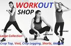 Workout Gym Yoga Cycling Sports Crop Top Vest T-Shirt Shorts Legging Jackets etc