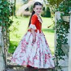 Girls Childrens Floral Countess Princess Fancy Dress up Costume Outfit