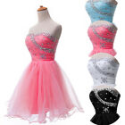 4Colors Prom Short Mini Wedding Party Gown Bridesmaid Homecoming Evening Dresses