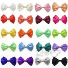 "Ling's 5.7"" Big Satin Ribbon Bow Hair Clips Haripin Gilr's Hair Haccessories"