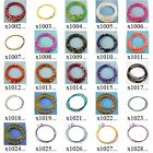 "x100m37 10pcs Multi-color 18"" Stainless Steel Chain Cord Necklace Wire Choker"