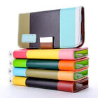 Hybrid Leather Wallet Flip Stand Case Cover For iPhone 5G, 5S