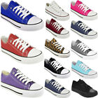 Kyпить  NEW LADIES WOMENS GIRLS FLAT LACE UP PLIMSOLLS PUMPS CANVAS TRAINERS SHOES SIZE на еВаy.соm
