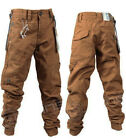 Kids Designer Eto EB343 Jogger Cuffed Chino Jeans In Tan Sizes 24 to 29
