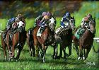 A4 A3 or A2 Final Furlong -Horse Racing Limited Edition Art Print by RussellArt