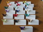 NEW 10 3d PEARLESCENT BUTTERFLY WEDDING PARTY PLACE NAME CARDS lots of colours