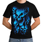 Skeleton Ghost Skull New Mens Women T-Shirt Liquid Blue Gothic Reaper  *h219