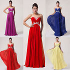 2014 Beaded Homecoming Party Evening Bridesmaid Cocktail Gown Prom Dress UK 6-20