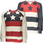 Mens Sweatshirt Soulstar American Flag Stars And Stripes Print Fashion Top BNWT