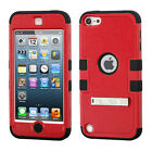 iPod Touch 5th / 6th Gen - Armor Kickstand Hard & Soft Rubber Hybrid Case Cover